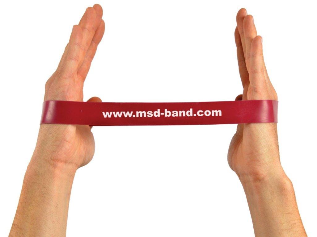 MSD-Band odporová slučka 28 x 2,5cm červená (stredná)