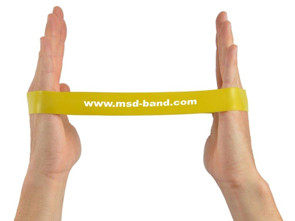 MSD-Band odporová slučka 28 x 2,5cm žltá (slabá)